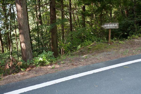 封事ヶ峠を越え、舗装道路と交差しながら進みます。1時30分。
