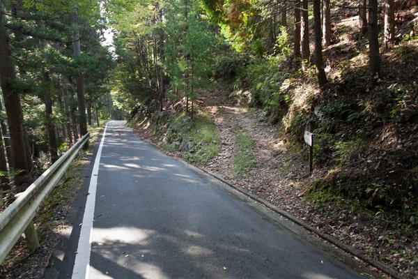 2時33分、三杯谷の滝を後にし、泉ヶ峠に向けて出発します。