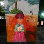 鶴岡八幡宮、ぼんぼり祭り、竹中直人さんの作品。