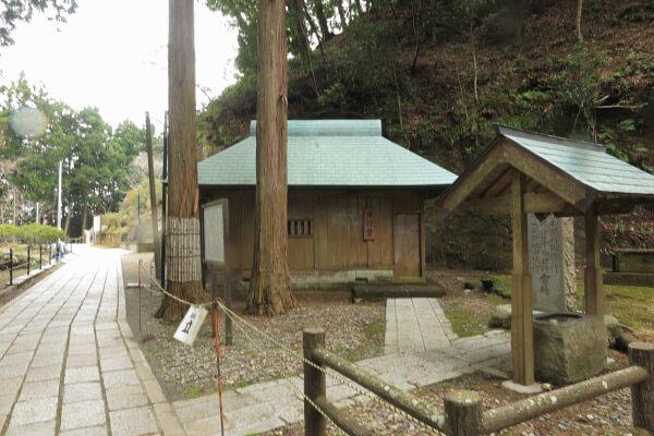 清澄寺、練行場。日蓮が修行したと伝わる場所です。