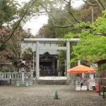 天津神明宮の三ノ鳥居と御正殿。境内は森々としています。
