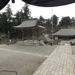 大堂からみた清澄寺境内。