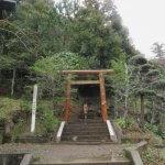 市の天然記念物にも指定されている神明神社の林。山頂にはなぎなみ様がいらっしゃいます。