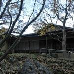 晩秋の一条恵観山荘。喫茶、楊梅亭(やまももてい)。