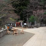 大山阿夫利神社の下社左手から標高1,252mの本社へと向かいます。【大山阿夫利神社】