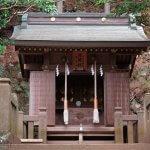 大山阿夫利神社の下社左手にある浅間社。【大山阿夫利神社】