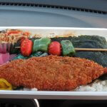 蛭ヶ島公園近くのお弁当屋さん「らんちてい」ののり弁(350円)。美味しかったです。