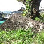 山木兼隆館跡。現在は個人宅となっており、住人に許可を得て入らせて頂きました。敷地内に篤志家が建てた「兼隆館跡」の石碑がありました。